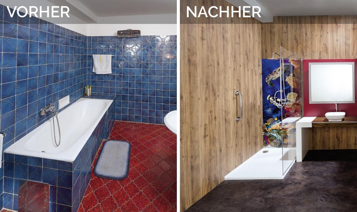 Dusche renovieren Vorher Nacher