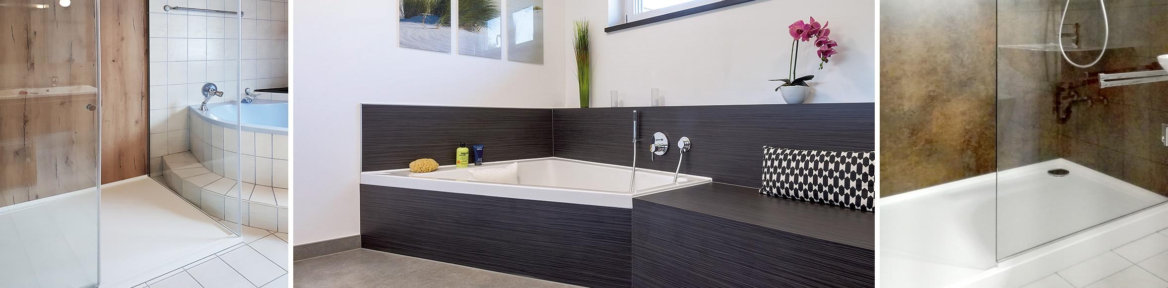Bad erneuern mit Dusche renovieren