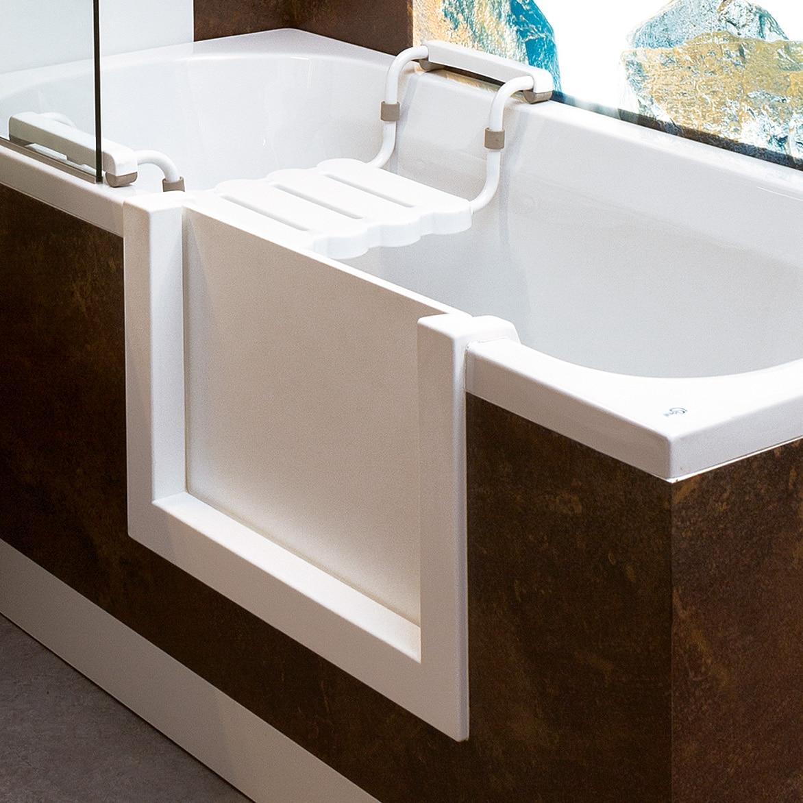 Badewannentür für den nachträglichen Einbau in eine vorhande Badewanne