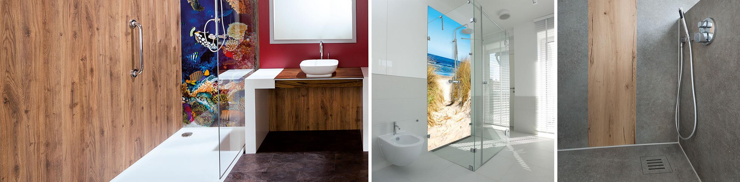 Dusche renovieren mit Fotodruck