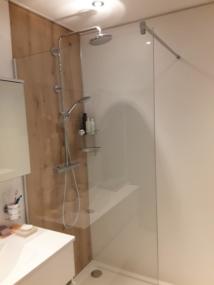 nachher Dusche mit Fixverglasung