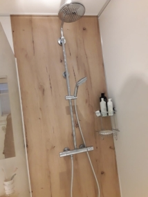 nachher Dusche mit Regenbrause
