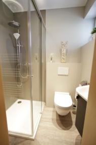 Dusche nacher mit WC