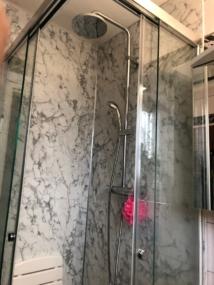 nachher Dusche mit Schiebetür