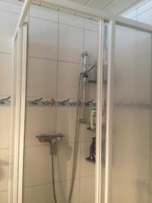 vorher Dusche
