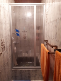 vorher Duschwand