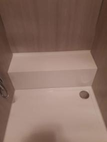 nachher Dusche mit Rohrverkleidung
