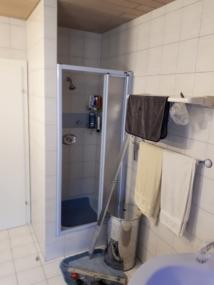 vorher gemauerte Dusche